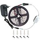 hesapli AC Adaptör ve Güç Kabloları-KWB 5m Işık Setleri 300 LED'ler 5050 SMD Sıcak Beyaz / Beyaz / Kırmızı Kesilebilir / Kısılabilir / Bağlanabilir 12 V / Araçlar İçin Uygun / Kendinden Yapışkanlı / IP44
