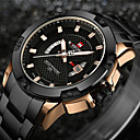 cheap Women's Watches-NAVIFORCE Men's Sport Watch Military Watch Wrist Watch Japanese Quartz Stainless Steel Black / Silver 30 m Water Resistant / Waterproof Calendar / date / day Creative Analog-Digital Charm Luxury