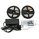 hesapli LED Şerit Işıklar-ZDM® 2x5M Işık Setleri 300 LED'ler SMD2835 1 44Keys Uzaktan Kumanda / 1 AC Kablosu / 1 x 12 V 3A Adaptörü RGB Su Geçirmez / Dekorotif / Kendinden Yapışkanlı 100-240 V 1set / IP65