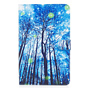 Buy Samsung Galaxy Tab E 9.6 Case Cover Blue Woods Pattern Painted Card Stent Wallet PU Skin Material Flat Protective Shell