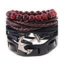 abordables Bracelets-Bracelets en cuir - Cuir Mode Bracelet Arc-en-ciel Pour Mariage / Soirée / Sports