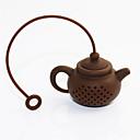hesapli Çay Takımları-Silikon Çay Süzgeci Yeniden kullanılabilir , 5.0*3.5*3.0