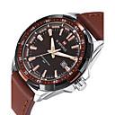 ieftine Ceasuri Damă-NAVIFORCE Bărbați Ceas Sport Ceas de Mână Quartz Calendar Cool PU Bandă Analog Lux Casual Modă Negru / Maro - Negru Maro Doi ani Durată de Viaţă Baterie / Maxell SR626SW
