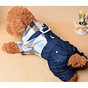 Χαμηλού Κόστους Ρούχα και αξεσουάρ για σκύλους-Σκύλος Φόρμες Ρούχα για σκύλους Καρό / Τετραγωνισμένο Σκούρο μπλε Βαμβάκι Στολές Για Άνοιξη & Χειμώνας Καλοκαίρι Ανδρικά Γυναικεία Καθημερινά Μοντέρνα