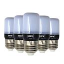 저렴한 LED 필라멘트 조명-HKV 5pcs 3W 200-300lm E14 E26 / E27 LED 콘 조명 20 LED 비즈 SMD 5736 따뜻한 화이트 차가운 화이트 220-240V