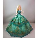ieftine Haine Păpușă Barbie-Rochie de papusa Petrecere / Seară Pentru Barbie Floral / Botanic Satin / Tul Dantelă Satin Rochie Pentru Fata lui păpușă de jucărie