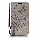 Buy Samsung Galaxy A7(2017) A5(2017) PU Leather Material Butterfly Flowers Pattern Solid Color Phone Case A3(2017) A510 A310