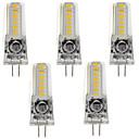 رخيصةأون وسائد-5pcs 3 W أضواء LED Bi Pin 220 lm G4 GY6.35 T 18 الخرز LED SMD 3014 أبيض دافئ أبيض كول 12 V / 5 قطع / بنفايات