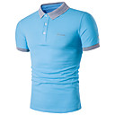 ieftine Bijuterii Bărbați-Bărbați Guler Cămașă - Mărime Plus Size Polo Bumbac Activ - Mată Bleumarin / Manșon scurt / Vară / Zvelt