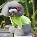hesapli Köpek Evcil HayvanBakım Ürünleri-Köpek Paltolar Svetşört Köpek Giyimi Solid Sarı Kırmzı Yeşil Mavi Pembe Pamuk Kostüm Evcil hayvanlar için Erkek Kadın's Günlük/Sade Moda
