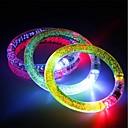 hesapli Yenilikçi LED Işıklar-3 adet light up bilezik flaş led ışık yayan elektronik bilezik için işıl parlayan parlayan bilezik noel bar