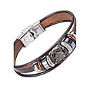 cheap Bracelets-Men's Leather Bracelet - Leather Natural, Fashion Bracelet Brown For Special Occasion / Gift / Sports
