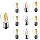 povoljno LED svjetla s dvije iglice-10pcs 4W 360lm E26 / E27 LED filament žarulje G45 4 LED zrnca COB Zatamnjen Ukrasno Toplo bijelo 220-240V