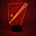 저렴한 LED 캔들 조명-1 개 3D 야간 조명 터치 7 색 USB 전원 터치 센서 USB 포트 포함