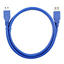 hesapli USB Kabloları-USB 3.0 Uzatma kablosu, USB 3.0 to USB 3.0 Uzatma kablosu Erkek - Dişi 0.6m (2 ft)