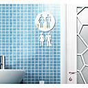 رخيصةأون ملصقات ديكور-لواصق حائط مزخرفة - ملصقات الحائط على المرآة تجريدي / 3D دورة المياه