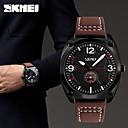 رخيصةأون ساعات الرجال-SKMEI رجالي ساعة المعصم ياباني كوارتز جلد أسود / بني / أخضر 30 m مقاوم للماء كوول مماثل كاجوال موضة - بني أحمر أخضر سنتان عمر البطارية / Maxell SR626SW