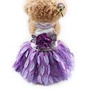Недорогие Игрушки для кошек-Кошка Собака смокинг Платья Одежда для собак Принцесса Черный Лиловый Красный Шифон Шелк Терилен Костюм Для домашних животных Жен. Для