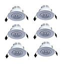 Χαμηλού Κόστους Λαμπτήρες LED με νήμα πυράκτωσης-JIAWEN 3 W 3 LED χάντρες Χωνευτό Φως Θερμό Λευκό Ψυχρό Λευκό 85-265 V