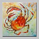 tanie Obroże, uprzęże i smycze dla psów-Hang-Malowane obraz olejny Ręcznie malowane - Zwierzęta Abstrakcja Nowoczesny Zwinięte płótna
