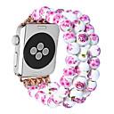 رخيصةأون حافظات ساعات هواتف أبل-حزام إلى Apple Watch Series 3 / 2 / 1 Apple تصميم المجوهرات خزفي شريط المعصم