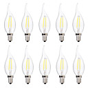 halpa LED Bi-Pin lamput-brelong 10 kpl 2w e14 led himmennettävä kynttilänlamppu c35 dc12v valkoinen / lämmin valkoinen