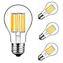 ieftine Becuri LED Lumânare-4 buc 10 W 900 lm E26 / E27 Bec Filet LED A60(A19) 10 LED-uri de margele COB Decorativ Alb Cald / Alb Rece 220-240 V / 4 bc / RoHs