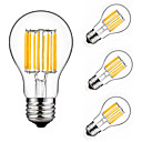 hesapli Kamp Araçları-4adet 10 W 900 lm E26 / E27 LED Filaman Ampuller A60(A19) 10 LED Boncuklar COB Dekorotif Sıcak Beyaz / Serin Beyaz 220-240 V / 4 parça / RoHs