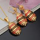 hesapli Küpeler-Kadın's Takı Seti - Altın Kaplama Moda, Euramerican Dahil etmek Gelin Takı Setleri Sarı Uyumluluk Parti Davet / Parti Günlük