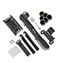 cheap Bike Lights-Bike Pump & Glueless Puncture Repair Kit Portable, Multifunctional, Fits Presta & Schrader Valve Cycling / Bike ABS / Alloy Black