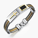 cheap Rings-Men's Bangles - Stainless Steel Rock, Gothic, Fashion Bracelet White For Party / Birthday / Party / Evening