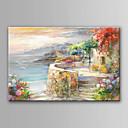 ieftine Pânză Pescuit-Hang-pictate pictură în ulei Pictat manual - Peisaj Modern contemporan Fără a cadru interior