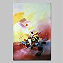お買い得  ヘッドセット、ヘッドホン-ハング塗装油絵 手描きの - 抽象画 抽象画 近代の インナーフレームなし