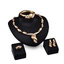 preiswerte Halsketten-Damen Schmuck-Set - Strass, vergoldet Personalisiert, Modisch Einschließen Anhängerketten Gold Für Party / Verabredung