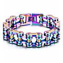 baratos Cabos USB-Homens Pulseiras em Correntes e Ligações Personalizada Hip-Hop Aço Inoxidável Pulseira de jóias Arco-íris Para Festa Rua