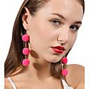 ieftine Seturi de Bijuterii-Pentru femei Minge Pom Pom Minge Personalizat Modă Cute Stil cercei Bijuterii Rosu / Roz / Bleumarin Pentru Zilnic Casual Stradă Ieșire