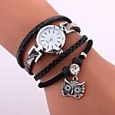 ieftine Cuarț ceasuri-Pentru femei Ceas Brățară ceasul cu ceas Quartz Piele PU Matlasată Negru / Alb / Albastru Rezistent la Apă Creative Analog femei Casual Modă Elegant - Negru Albastru Kaki / Oțel inoxidabil
