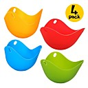 cheap Cooking Tools & Utensils-4 Pcs Eggcellent Poacher Colorful Non-stick Silicone Egg Cookware Pod Cup