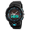 ieftine Ceasuri Bărbați-SKMEI Bărbați Ceas Sport Ceas Militar Ceas de Mână Japoneză Digital Piele PU Matlasată Negru / Verde 50 m Rezistent la Apă Alarmă Calendar Analog - Digital Modă Unic Watch Creative - Rosu Verde