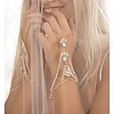 hesapli Bilezikler-Kadın's Yüzük Bileklikler - Yapay Elmas Damla Kişiselleştirilmiş, Moda, Bling Bling Bilezikler Altın / Gümüş Uyumluluk Düğün / Hediye / Günlük