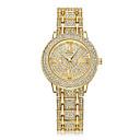 preiswerte Damenuhren-Damen Armbanduhr Chinesisch Kalender / Kreativ / Imitation Diamant Edelstahl Band Glanz / Punkt / Freizeit Silber / Gold / Rotgold