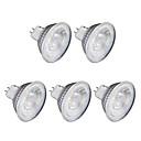 hesapli LEDler-5pcs 6W 1lm GU10 LED Spot Işıkları MR16 1 LED Boncuklar COB Sıcak Beyaz Serin Beyaz 220V