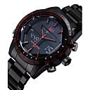 ieftine Ceasuri Bărbați-ASJ Bărbați Ceas de Mână Ceas digital Oțel inoxidabil Negru 30 m Rezistent la Apă Alarmă Calendar Analog - Digital Lux - Negru Rosu Albastru Doi ani Durată de Viaţă Baterie / Cronograf / LCD