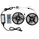 cheap IP Cameras-1 Set Led Light Strip Kit Waterproof 72W 5050 10M(2*5M) 600leds RGB 60leds/m with 44key Ir Controller and 6A Power Supply(UL) AC100-240V