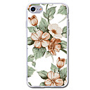 cheap iPhone Cases-Case For Apple iPhone 7 Plus iPhone 7 Transparent Pattern Back Cover Flower Soft TPU for iPhone 7 Plus iPhone 7 iPhone 6s Plus iPhone 6s
