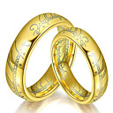 cheap Rings-Couple's Band Ring - Titanium Steel Fashion 6 / 7 / 8 Gold / Black / Silver For Daily