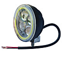 hesapli LED Mısır Işıklar-Jiawen 3.5inch 5.5w yuvarlak siyah ledli motosiklet farları için jeep farları (dc 9-48v)