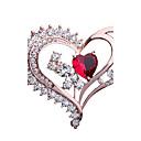 halpa Korvakorut-Naisten Rintaneulat Tekojalokivi Heart Muoti Tyylikäs Rintaneula Korut Vaaleanruskea Käyttötarkoitus Party Lahja