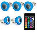 رخيصةأون مصابيح ليد ثنائية-1SET 3W 240lm E27 LED ضوء سبوت 1 الخرز LED طاقة عالية LED ديكور جهاز تحكم RGB 85-265V
