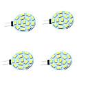 Недорогие Двухконтактные LED лампы-4шт 1W 200lm G4 Двухштырьковые LED лампы T 15 Светодиодные бусины SMD 5730 Декоративная Тёплый белый Холодный белый 12-24V